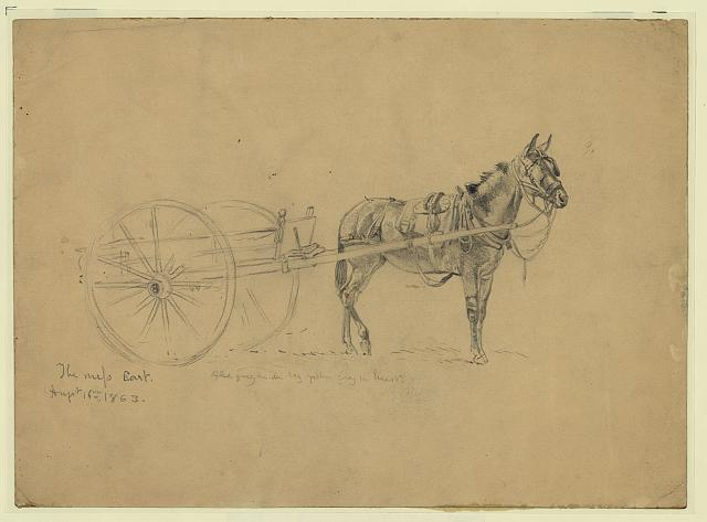Civil War mess cart