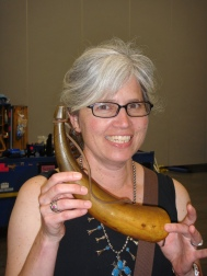 theresa with powder horn