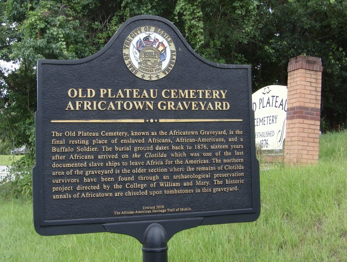 historic marker - plateau cemetery